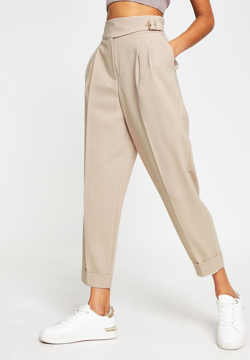 River Island - BALLOON SHAPED PEG  - Trousers - cream