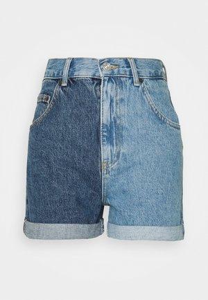 TWO TONE MOM - Denim shorts - blue