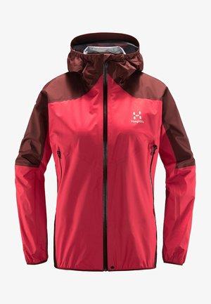 L.I.M COMP JACKET - Waterproof jacket - hibiscus red/maroon red