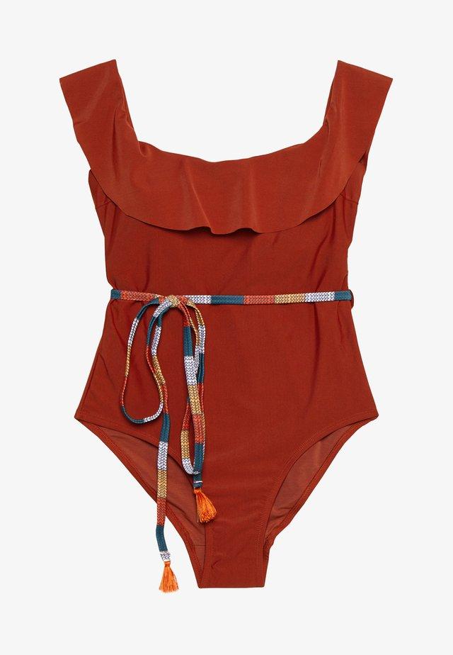 PARAMARIBO RUFFLE - Costume da bagno - brick red