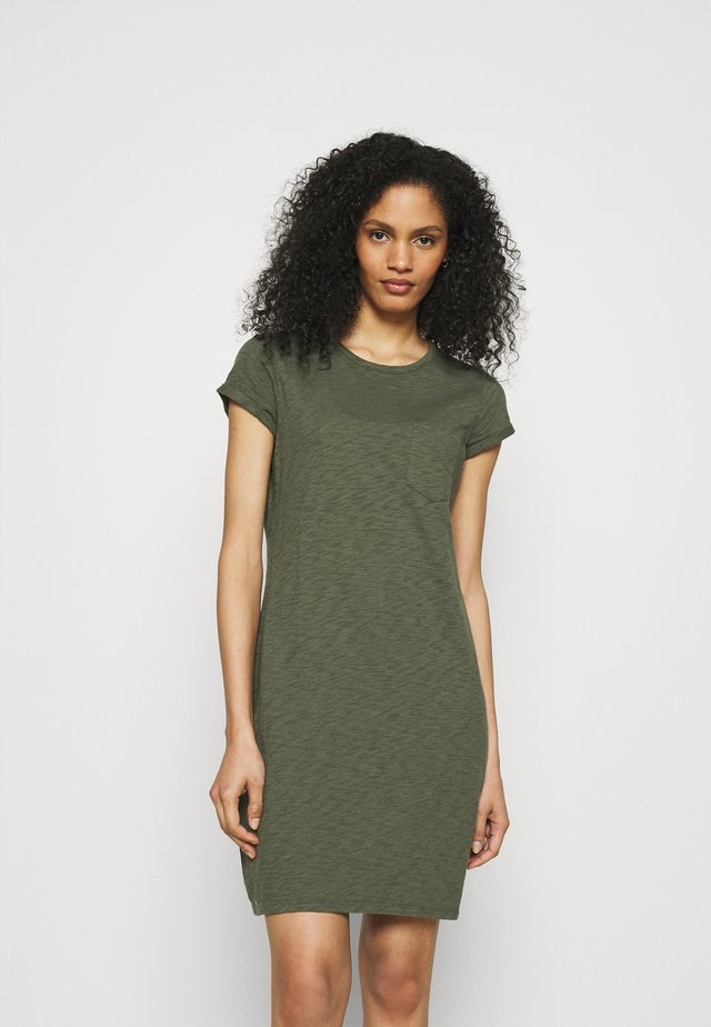 TEE DRESS - Žerzejové šaty - tweed green