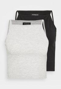 Even&Odd - 2 PACK - Top - mottled grey/black - 0