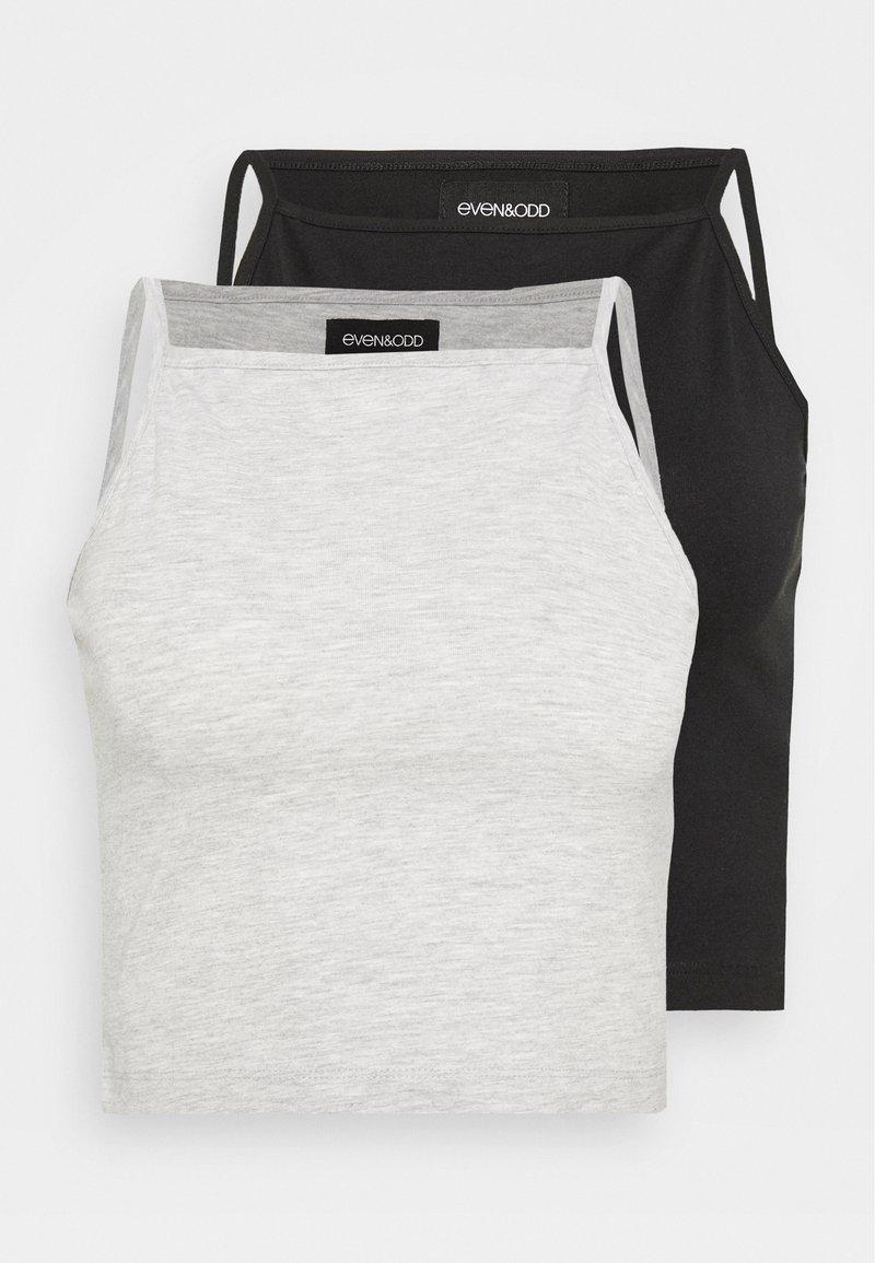 Even&Odd - 2 PACK - Top - mottled grey/black