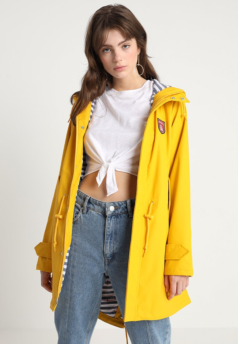 Derbe - TRAVEL FRIESE STRIPED - Parka - yellow/blue