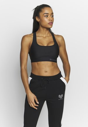 ARMOUR MID CROSSBACK BRA - Sports bra - black/graphite
