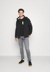 Tommy Jeans - ESSENTIAL HOODED JACKET - Summer jacket - black - 1