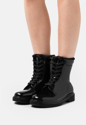 GAMMA LACE UP - Wellies - black