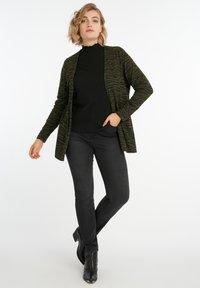 MS Mode - WITH ZEBRA PRINT - Cardigan - khaki - 1