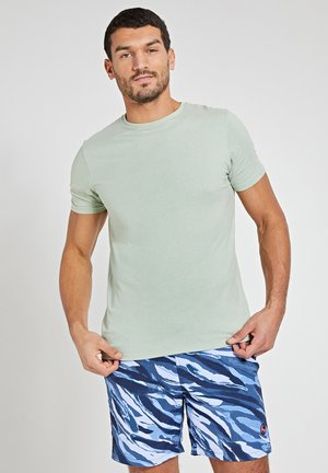 ROBBERT SOFT SOLID - Basic T-shirt - silvered green