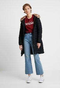 Abercrombie & Fitch - LONG PARKA - Down coat - black - 1
