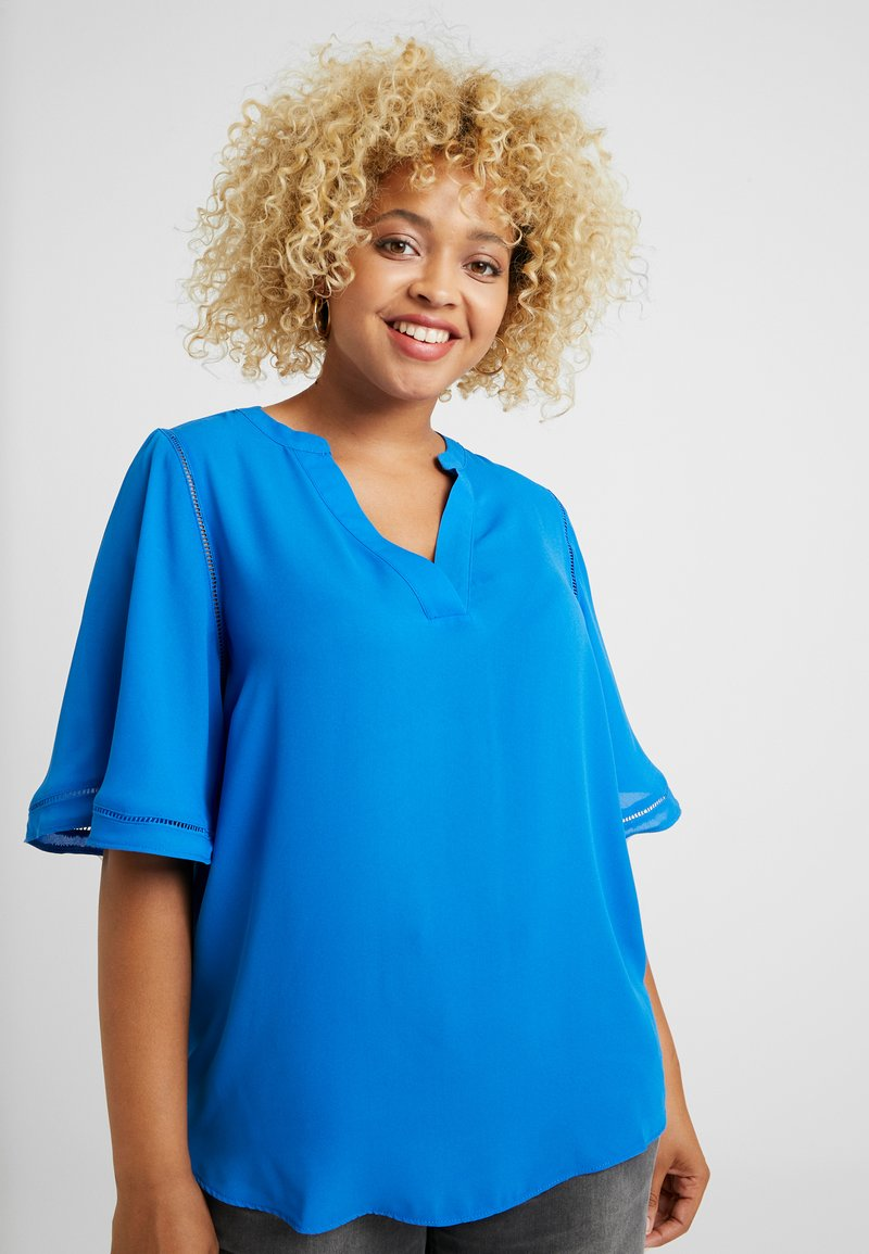 CAPSULE by Simply Be - LADDER INSERT TUNIC - Bluser - cobalt blue