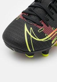Nike Performance - JR MERCURIAL VAPOR 14 ACADEMY FG/MG UNISEX - Kopačky lisovky - black/cyber/off noir - 5