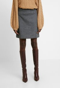 Esprit Collection - SKIRT - Minisukně - dark grey - 0