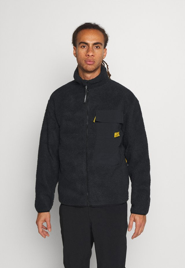 SHALLOW WATER - Fleece jacket - black