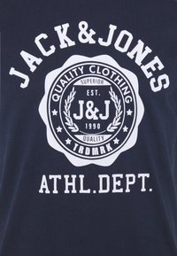 Jack & Jones - JJFLOCK TEE CREW NECK - Printtipaita - dark blue - 4