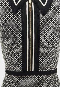 sandro - POLIE - Shirt dress - noir/blanc - 2