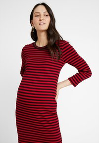 Supermom - DRESS STRIPE - Jersey dress - tango red - 4