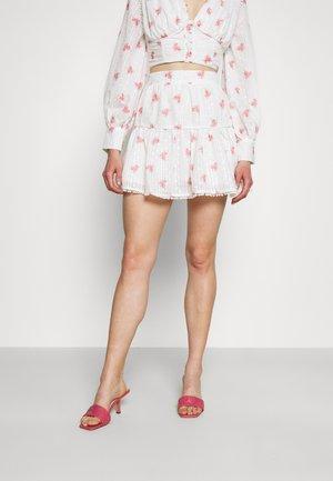 PIPING SKIRT - Mini skirt - rose broderie