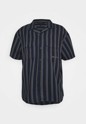 FINE PREPPY STRIPE UNISEX - Button-down blouse - navy
