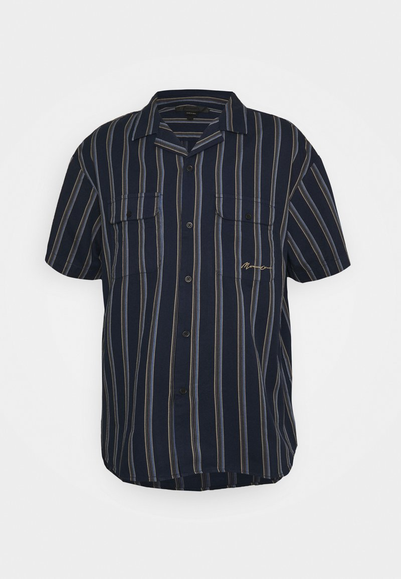 Mennace - FINE PREPPY STRIPE UNISEX - Button-down blouse - navy