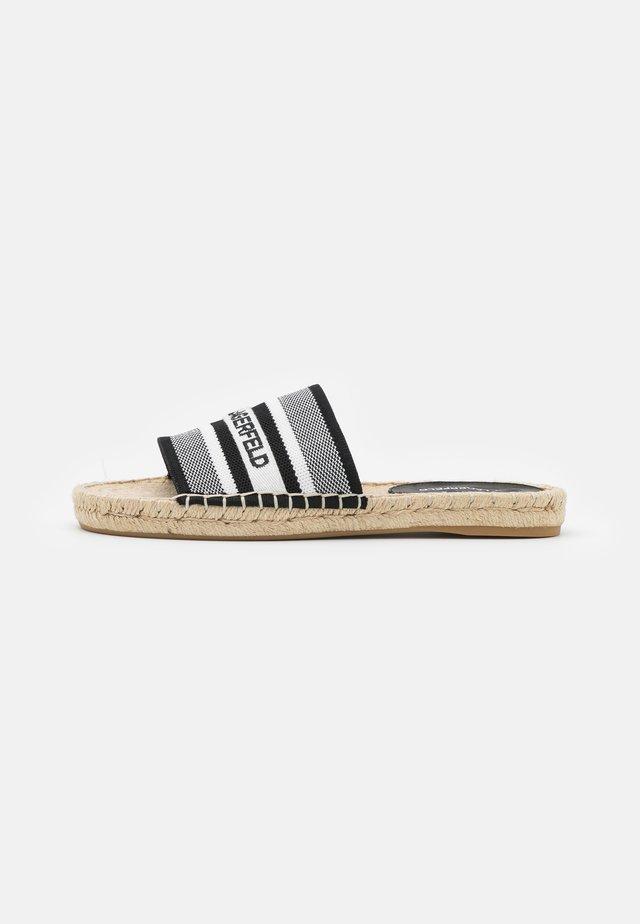 KAMINI SLIDE - Sandalias planas - white/black