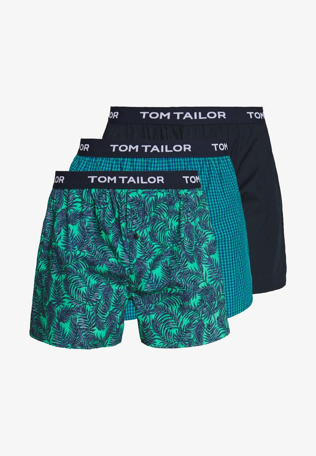 3 PACK - Trenýrky - dark blue/green/dark blue
