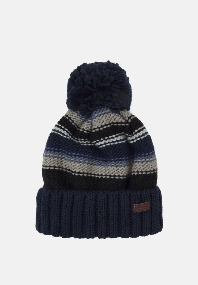 HARROW STRIPE BEANIE - Mütze - grey/blue