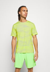 Calvin Klein Performance - SHORT SLEEVE - Triko s potiskem - green - 0
