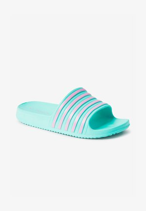 STRIPE  - Badslippers - light blue