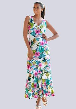Maxi dress - weiss-bunt