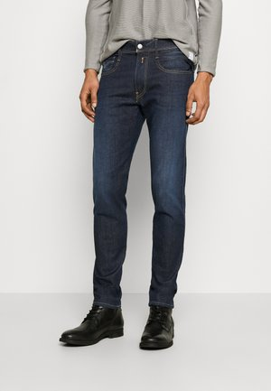 ANBASS HYPERFLEX RE-USED - Slim fit jeans - dark-blue denim