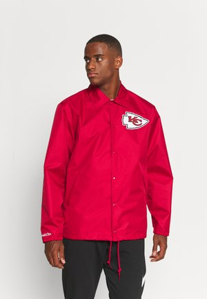 NFL KANSAS CITY CHIEFS COACHES JACKET - Klubové oblečení - scarlet