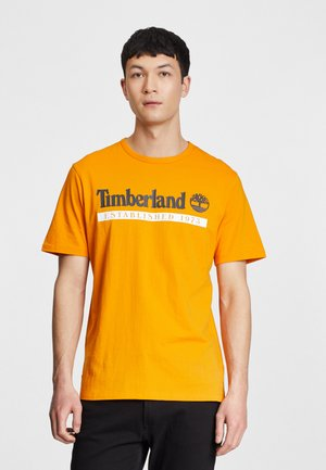 Print T-shirt - dark cheddar