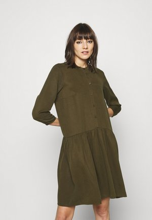 DRESS SHORT SLEEVE - Shirt dress - burnished logs