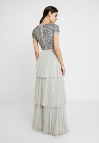 Maya Deluxe - TIERED SKIRT WITH WAISTBAND - Maxinederdele - soft grey - 2