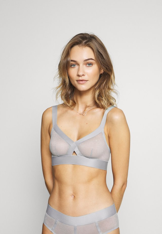 SHEERS SOFT CUP BRA - Soutien-gorge triangle - aluminium