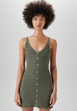 Shift dress - mottled green
