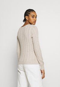 Hollister Co. - CABLE LAYER ON - Jumper - oatmeal - 2