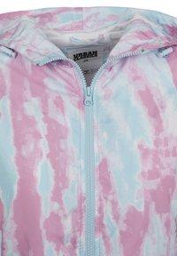 Urban Classics - Windbreakers - aqua blue/pink - 6