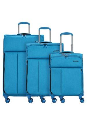 3 SET - Kofferset - petrol blue brushed