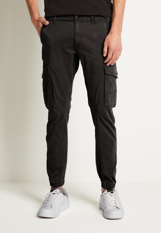 JJIPAUL JJFLAKE - Pantalon cargo - black