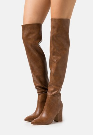 JOSEPHINE - Over-the-knee boots - tan