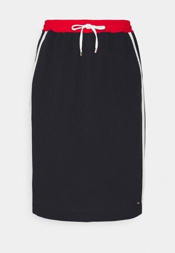 FLUID KNEE SKIRT - Pencil skirt - desert sky/fireworks/white