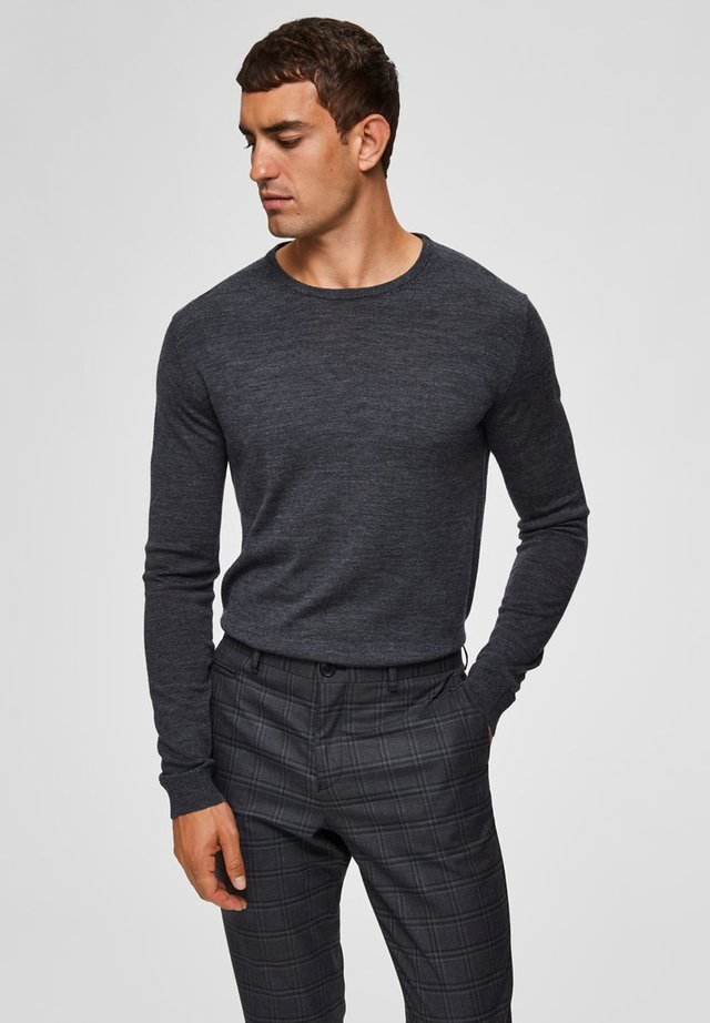 SLHTOWER - Jersey de punto - medium gray melange