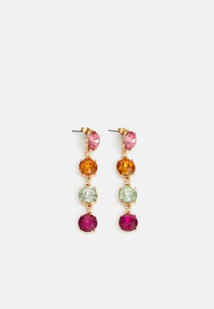 PCMADELIN EARRINGS - Orecchini - gold-coloured/pink/orange/green/purple