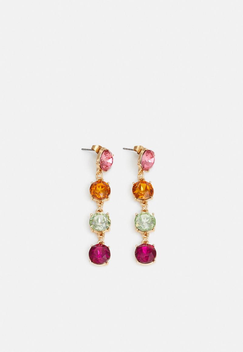 Pieces - PCMADELIN EARRINGS - Kolczyki - gold-coloured/pink/orange/green/purple