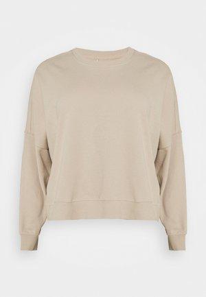 HARPER CREW NECK PULLOVER - Sweatshirt - beige