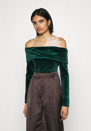 FOLD OVER  - Long sleeved top - emerald