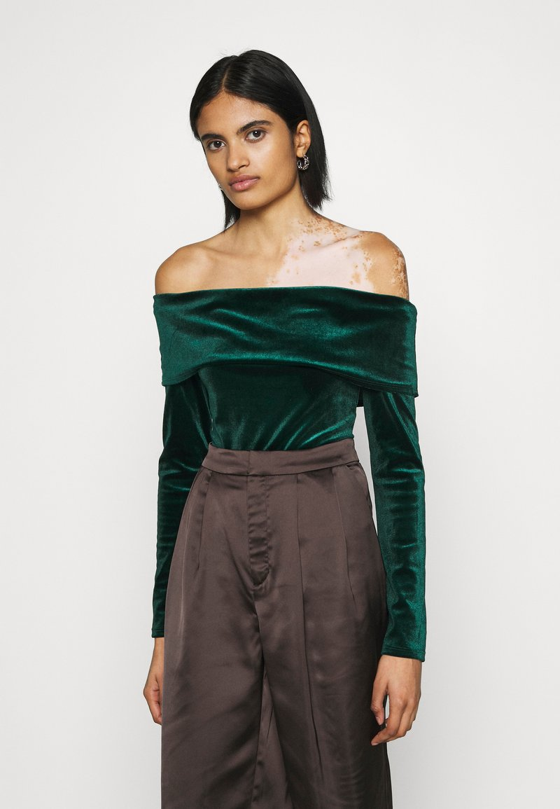 Nly by Nelly - FOLD OVER  - Long sleeved top - emerald