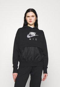 Nike Sportswear - AIR  - Hoodie - black/white - 0